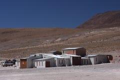 Shelters near Laguna Hedionda Royalty Free Stock Image