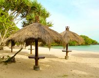 The Shelters On The Nusa Dua Beach Bali Royalty Free Stock Photo
