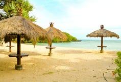 The Beach Shelters On The Nusa Dua Beach Bali Stock Photography
