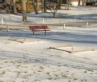 Sheltzer park. A walk through Sheltzer park after a snow fall Stock Photos