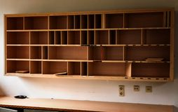 Shelve of an abandoned place stock photography