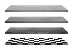 Shelves собрание изолированное на белой предпосылке Стоковые Изображения