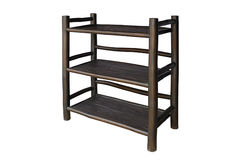 Shelves black bamboo Royalty Free Stock Photography