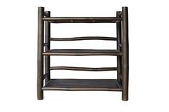 Shelves black bamboo Stock Photos