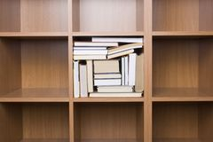 Shelves of books. Business concept Royalty Free Stock Image