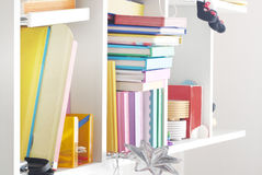 Shelves with books Stock Images