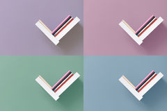 Shelves of books on wall Royalty Free Stock Photography