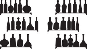Shelves with booze Royalty Free Stock Photography