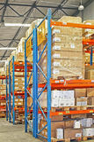Shelves and cargo Royalty Free Stock Photo