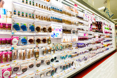 Shelves with cosmetics in a Target store. Target is the second-largest discount retailer in the United States royalty free stock images