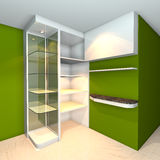 Shelves designs green Stock Photo