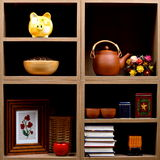 Shelves with different objects Royalty Free Stock Photo