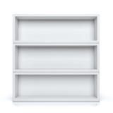 Shelves. Empty shelves isolated on white background Stock Photo