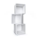 Shelves. Empty shelves isolated on white background Royalty Free Stock Photo