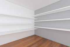 Shelves with empty room Royalty Free Stock Images