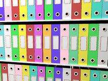 Shelves Of Files For Getting Office Organized. Shelves Of Files For Getting The Office Paperwork Organized royalty free illustration