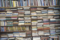 Shelves filled with  books Stock Photos