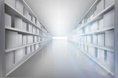Shelves in the warehouse. Vector illustration. vector illustration