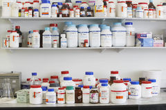 Shelves Full Of Medications Royalty Free Stock Images