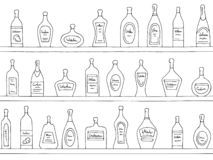 Shelves graphic black white seamless pattern background sketch illustration vector royalty free illustration