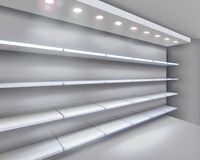 Free Shelves In Shop. Vector Illustration. Royalty Free Stock Photography - 27940827