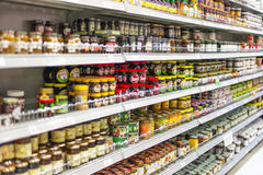 Shelves of Jam Royalty Free Stock Photography
