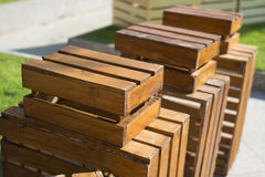 Shelves made from box wooden Stock Photography
