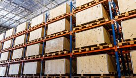 Shelves manufacturing storage Stock Photos