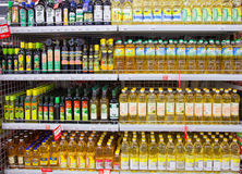 Free Shelves Of Supermarket With Oil Royalty Free Stock Photos - 89343338