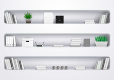 Shelves Office and Cabinet royalty free illustration