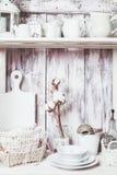 Shelves in the rack Stock Photo