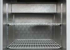 Shelves in refrigerator Royalty Free Stock Images
