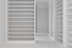 Shelves room Royalty Free Stock Photography