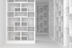 Shelves room Stock Image