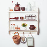 Shelves in rustic style Stock Photos