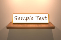 Shelves sample text Royalty Free Stock Photography
