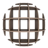 Shelves in the shape of a circle Royalty Free Stock Images