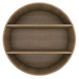 Shelves in the shape of a circle Royalty Free Stock Photography