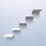 Shelves in the shape of stairs Stock Photography