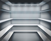 Shelves in shop. Vector illustration. Stock Photography