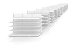 Shelves in store or shop Royalty Free Stock Images