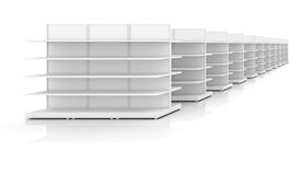 Shelves in store or shop Royalty Free Stock Photo