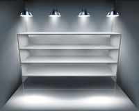Shelves in storeroom. Vector illustration. Stock Image