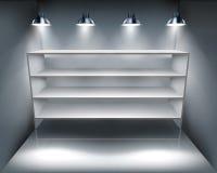 Shelves in storeroom. Vector illustration. Stock Image