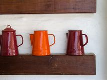 Shelves vases. Stock Images