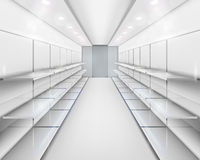 Shelves. Vector illustration. Royalty Free Stock Photos