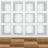 Shelves in the wall. Empty shelves in the wall Stock Photography