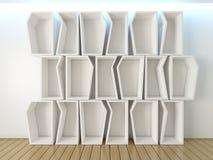 Shelves wall design Stock Images