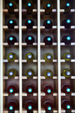 Shelves with wine bottles at  cafe Royalty Free Stock Images