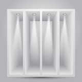 Shelves With Lights Stock Photography